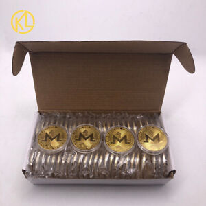 50pc Gold Monero Physical Collectible XMR Coins Cryptocurrency Metal Coins