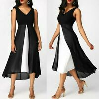 Women Holiday Long Tops Casual Ladies Summer Beach Party Dress Plus Size S-5XL