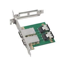 Amphenol 2-port SFF-8087 to External SFF-8088 PCI mini SAS 26P Adapter RAID Card