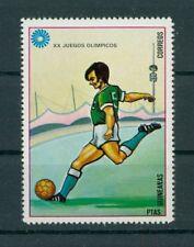Guinea Olympia 1972 fútbol berilio!!! Olympics Football error missing Colour da99