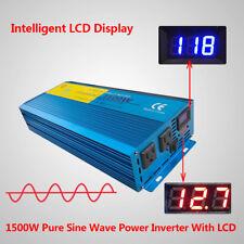 1500W/3000W Peak Pure Sine Wave Power Inverter DC 12V to AC 110V New Car Caravan