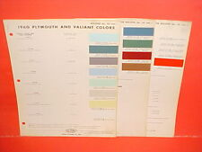1960 PLYMOUTH VALIANT BELVEDERE SAVOY FURY CONVERTIBLE SUBURBAN PAINT CHIPS 60