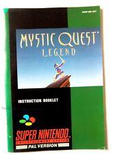 51331 Instruction Booklet - Mystic Quest Legend - Nintendo SNES (1993) SNSP-MQ-U