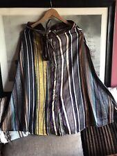 Talia Benson Size L Ladies Front Button Multicoloured Stripe Skirt BNWT