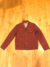 NWT~ Mens  Levi Trucker Denim Raw jean Jacket Syrah Size Small