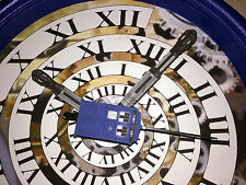 Handmade Doctor Who Time Vortex Wall Clock - TARDIS Blue!