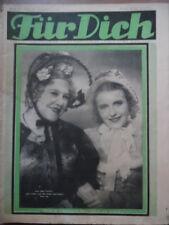 FÜR DICH 19 - 1934/35 Vobachs Unterhaltungsblatt >Die Liebe und die Eisenbahn<
