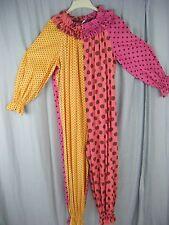 Vintage Handmade 60s Multi-Dots Ruffle Crown Costume Jumpsuit-Bust 53/ S-M
