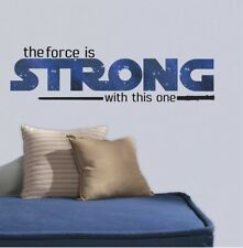 New Star Wars The Force Is Strong With This One Quote Wall Decals Stickers Decor