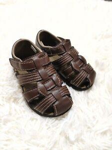 Wonder Nation Boy's  Fisherman Sandals, Brown, Size 6 toddler
