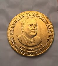 1992 SHELL PRESIDENTIAL COLLECTOR COINS. - Franklin D. Roosevelt