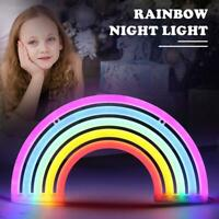 Colorful Rainbow Neon Sign LED Night Light Wall Lamp For Kids Room Decor