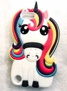 For iPod Touch 5th 6th 7th Gen - SOFT SILICONE RUBBER CASE COVER WHITE UNICORN