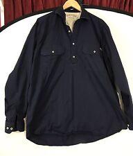 Mens RM Williams Stockyard Australia  Indigo Pullover Button Shirt XL Work