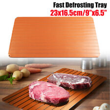 Fast Defrost Defrosting Tray Aluminium Meat Plate Thaw Mat Miracle Frozen Food