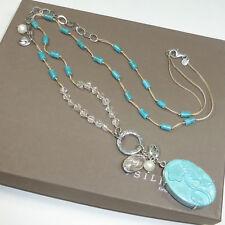 Silpada Barcelona Turquoise Viva La Diva Award Necklace Sterling Silver Spain