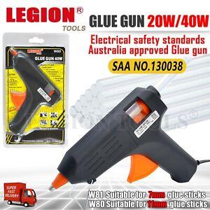 Electric Hot Melt Glue Gun Trigger Adhesive Sticks Craft DIY Hobby Repair 7 11mm