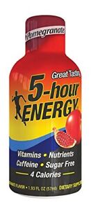 5 Hour Energy shot Nutritional Drink Bottles, Pomegranate, 1.93 Ounce 12 count