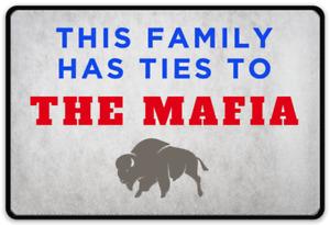 Buffalo Bills - Bills Mafia  This Family Has ties to The MaFiA! Logo Type MAGNET