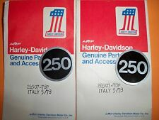 HARLEY AERMACCHI AMF NOS pair of 250 STICKERS SS250 SX250  24507-78P
