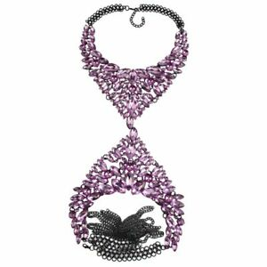 Body Necklace For Women Long Chain Sexy Handmade Crystal Gem Maxi Luxury Jewelry