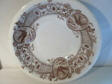 "Aesthetic Brown Crysanthumum Transferware Burslem Emery SUSSEX 16"" Wash Bowl"