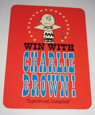 Vintage 1968 Peanuts Oversized Hallmark Postcard Snoopy's Win With Charlie Brown