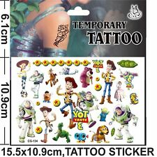 Toy Story Woody Temporary Tattoo Sheet Children Kids Birthday Party Bag Filler
