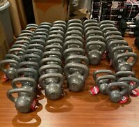 NEW Weider Cast Iron Kettlebell 10, 15, 20, 25, 30 & 35lb Single (Choose Weight)