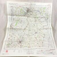 1969 Vintage Militare Mappa Di Lincoln Grantham Sleaford Lincolnshire Lincs