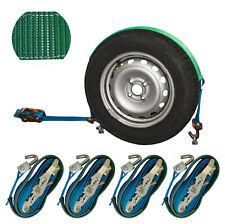 4x Spanngurt Autotransport 35mm 3t Zurrgurt Radsicherung Reifengurt LC 1500 (42)