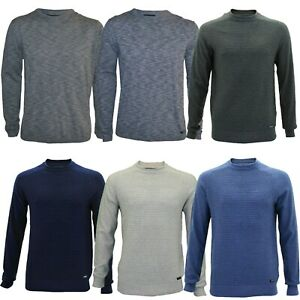 Mens Thin Knit Jumper 100% Cotton Pullover Sweater Crew Neck Casual Top