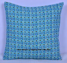 INDIAN KANTHA CUSHION PILLOW COVER THROW Floral Ethnic Traditional Hippy Decor
