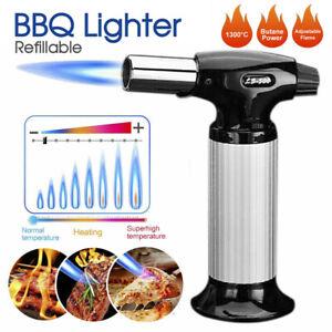 Refillable Gas Butane Blow Torch Fire Lighter Food Cook Baking Culinary Solder
