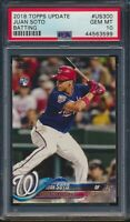 2018 Topps Update US300 Juan Soto Rookie Card RC Nationals PSA 10 Gem Mint