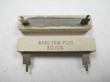 3 ohm 10 Watt 10% Wire Wound Power Resistor (NOS, New Old Stock)(QTY 10 ea)D4