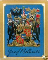 Felix Graf von Bothmer General Germany Armoiries Coat of Arms IMAGE CHROMO 30s