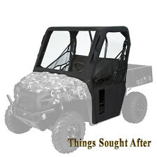BLACK SOFT CAB ENCLOSURE for 2017 KAWASAKI MULE PRO-DX & PRO-FX & EPS & LE Cabin
