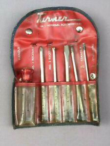 Vintage TURNER Universal SCREWDRIVER Set T.154, Pouch, AUSTRALIA, Rare - Tool