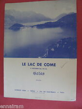 Le Lac de Come  Lake Como  Op 24 6 Nocturne by Galas rev. A Gregh 1958