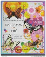 o) 2013 PERU, INSECTS, BUTTERFLIES, SOUVENIR MNH