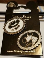 Disney Trading Pins Wedding Ear Hats Mr. and Mrs.  Free Shipping