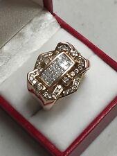 MEN'S 14K ROSE GOLD DIAMOND PAVE 1.40 TCW  RING