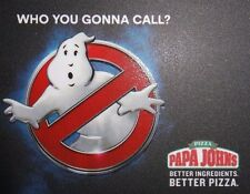 Papa John's Gift Card Of Ghost Busters New (2016) $0 Value :D (N:ƆE)