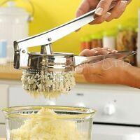 Hand Held Potato Ricer Masher Puree vegetable Fruit Press Maker Stainless Steel