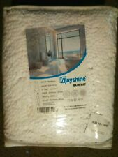 MAYSHINE Non-Slip Bathroom Rug Shag Shower Mat Machine-Washable Bath Mats -White