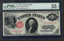 1917 LEGAL TENDER 1 DOLLAR STAR NOTE PMG 55 EPQ PLEASE LQQK!!!!!!!!!!