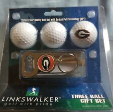 Linkswalker 3 Golf Ball Gift Set Georgia With Bottle Opener Keychain