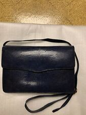 Genuine Lizard Skin Clutch Handbag With Two Different Straps Hanmade In Thailand