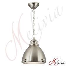 Pendelleuchte Hängelampe Industrie Ø31cm Chrom Silber Glas Deckenlampe Leuchte